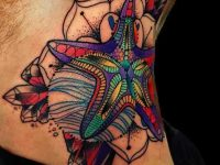 The Mystic Star Tattoo Designs For Neck