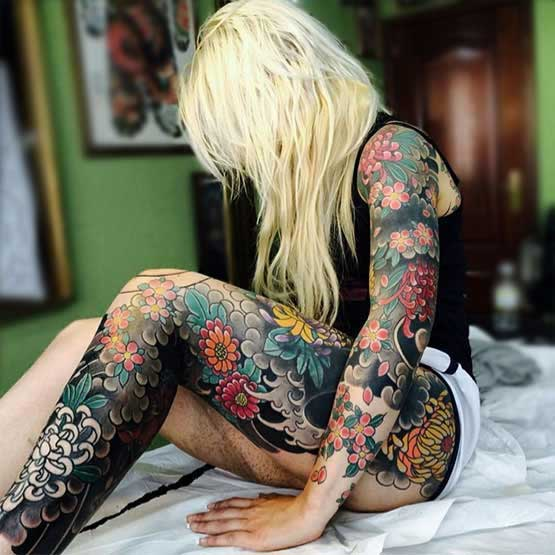 The Best Full Body Tattoo Girl