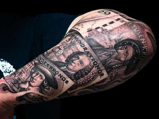 Money Tattoo Designs As Desire and Dream