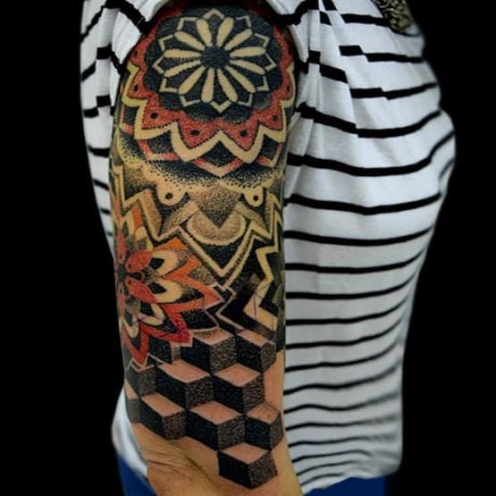 Geometric 3D Tattoo Designs