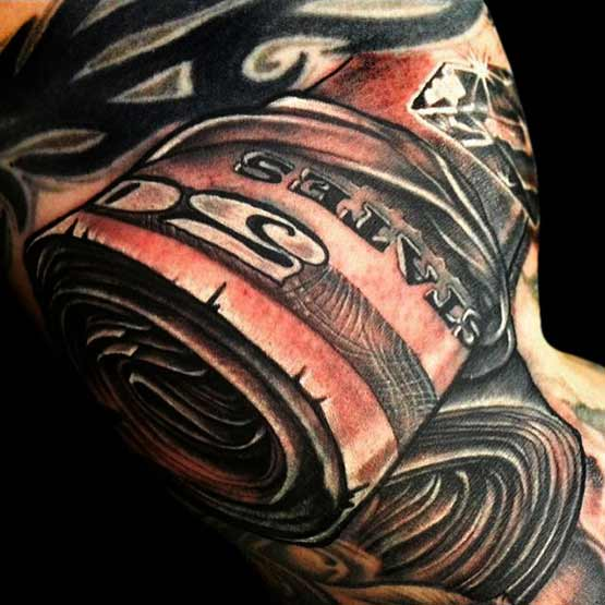 Money Roll Tattoo Designs For Men