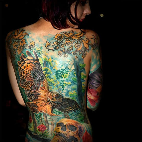 The Girl Full Body Tattoos
