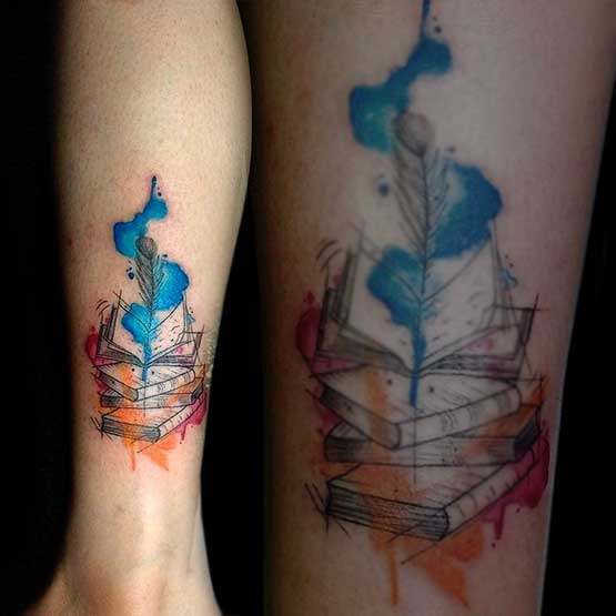 Watercolor Tattoos Fade