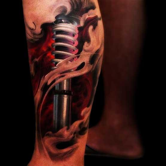 3D tattoo designs on foot