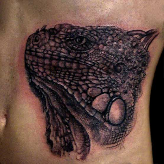 Iguanas Heat Tattoo Designs