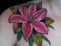 Lily flower Tattoo Designs Meanings