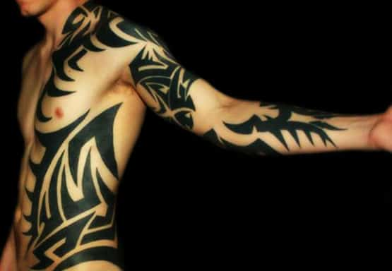 Cool Tribal Tattoo Design Concept