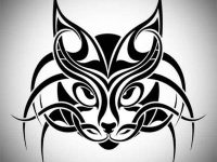 cat tribal tattoo designs