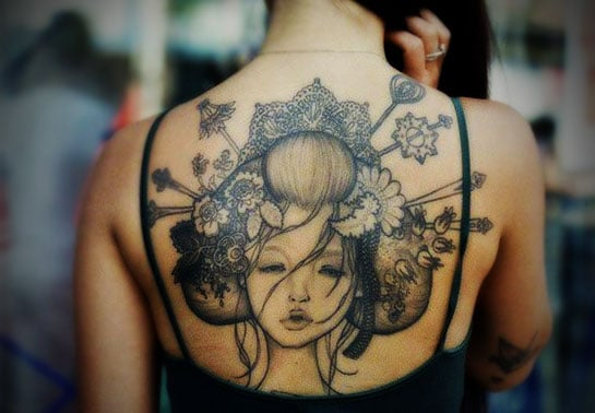 Tattoo designs for women at the back