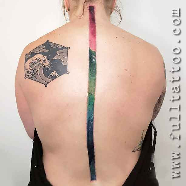 Abstract Spine Tattoo