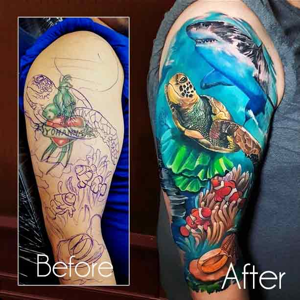 Cover Up Tattoos Before And After