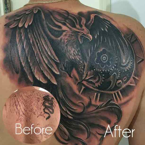 Eagle Tattoo Cover Up Ideas