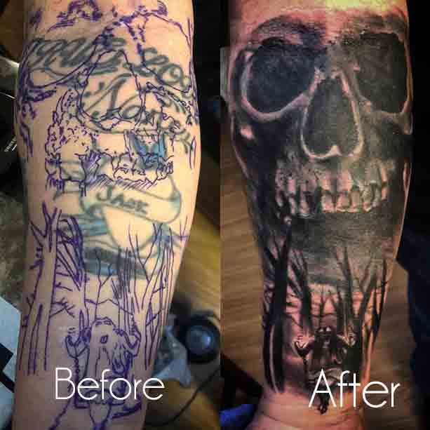 Ex Name Tattoo Cover Up