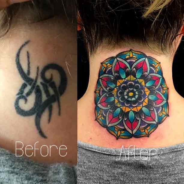 Neck Tattoo Cover Up