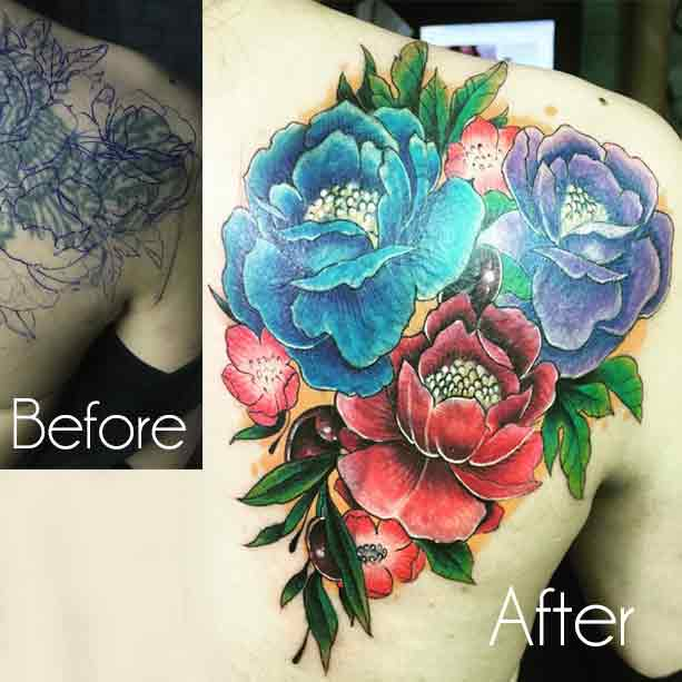 Tattoo Cover Up With Another Tattoo