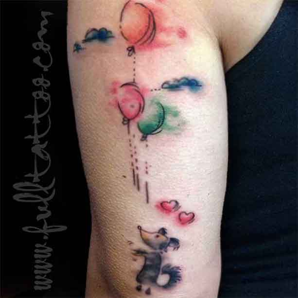 Tattoo Watercolor Fade